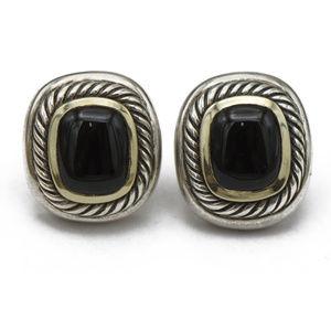 David Yurman Albion Black Onyx Earrings